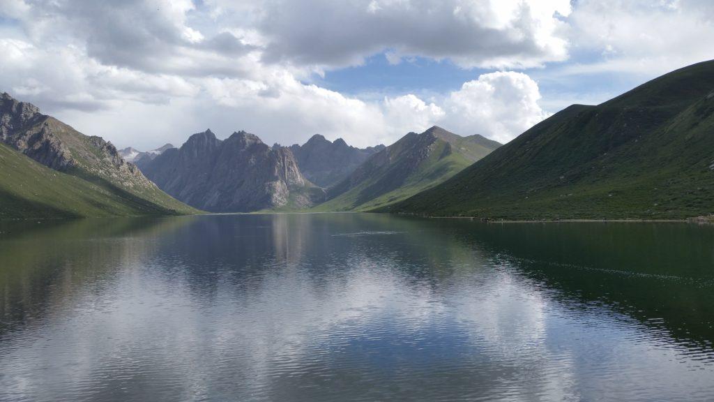 Nyenbo Yurtse and its glacier lake in Qinghai Tibet