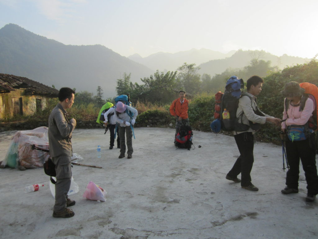 Ready for trekking in Chuandiding, North Guangdong