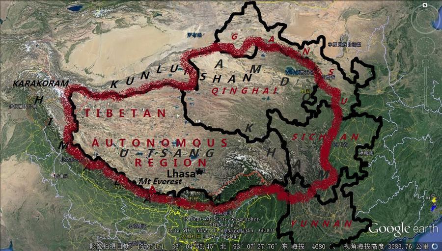 Tibet, Great Tibetan plateau, U-Tsang, Kham, Amdo
