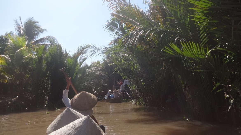 Vietnam, Mekong Delta, on a river canal