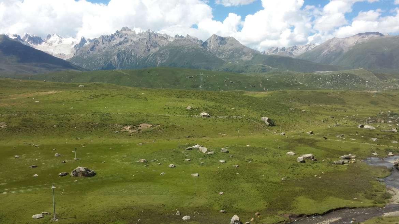 Eastern Tibet, Sichuan, Chola mountain north face, near Dzogchen monastery