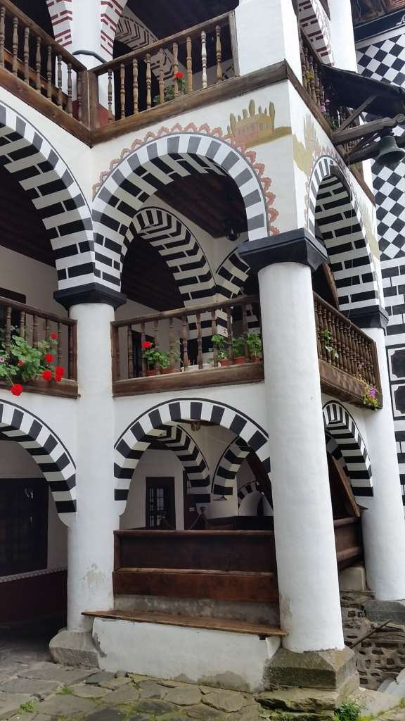 Architecture of the Residential part, Rila monastery, Bulgaria