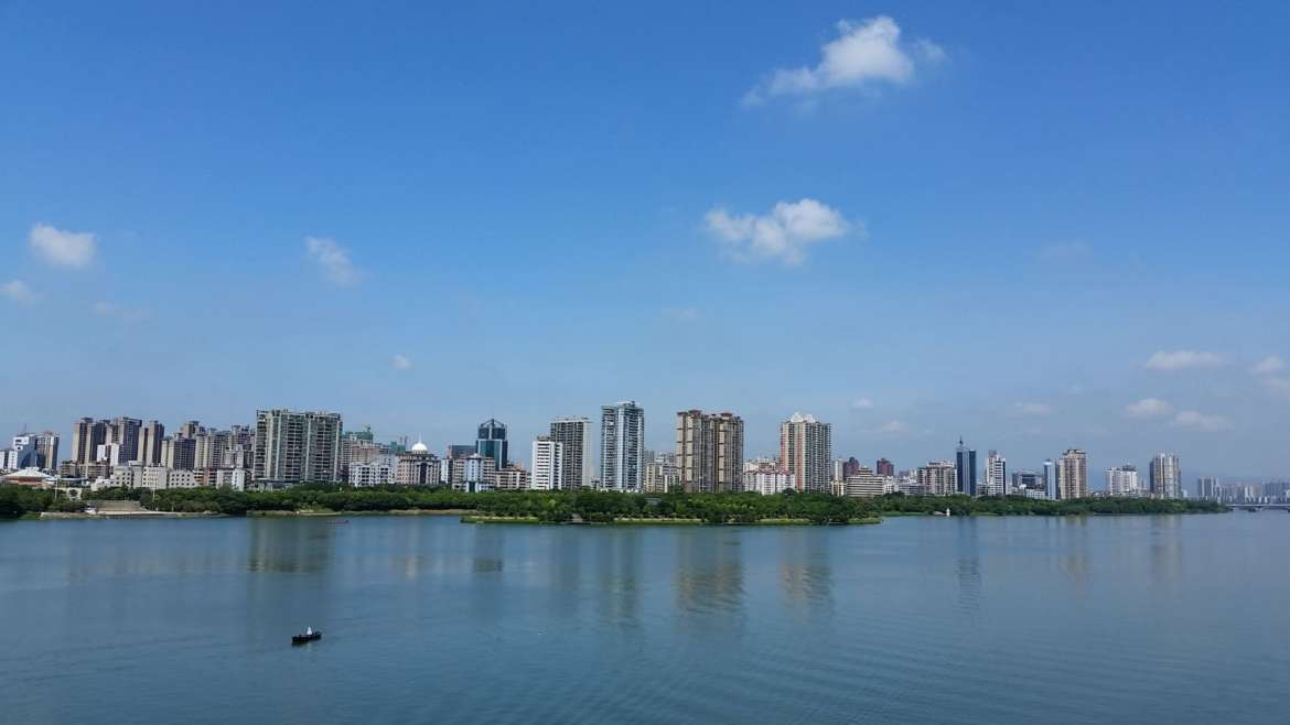Qingyuan- a cityscape on the banks of Beijiang River