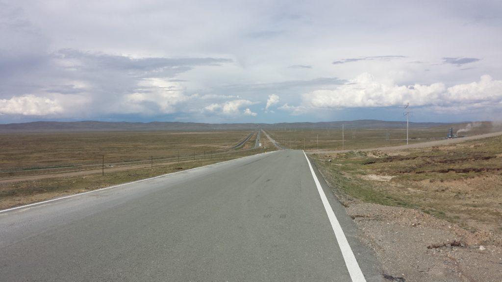 Road from Yushu to Xining in Qinghai Tibet