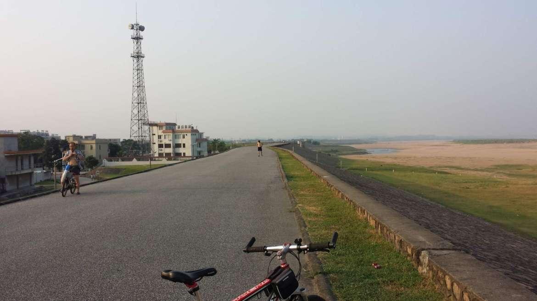 Beijiang River embankment at Shijiao, Qingyuan