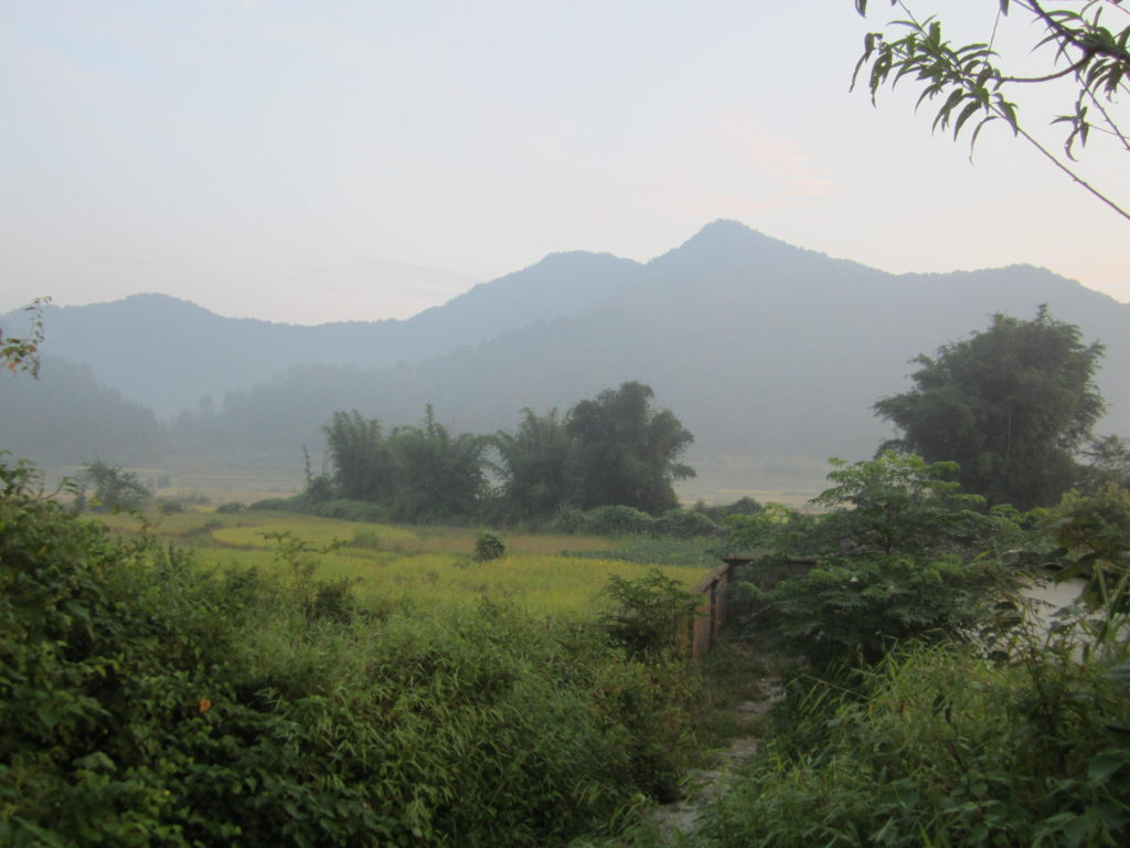 Early morning near Xindong village, Chuandiding mountain, north Guangdong