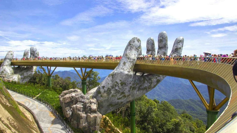Golden Hand Bridge in Danang