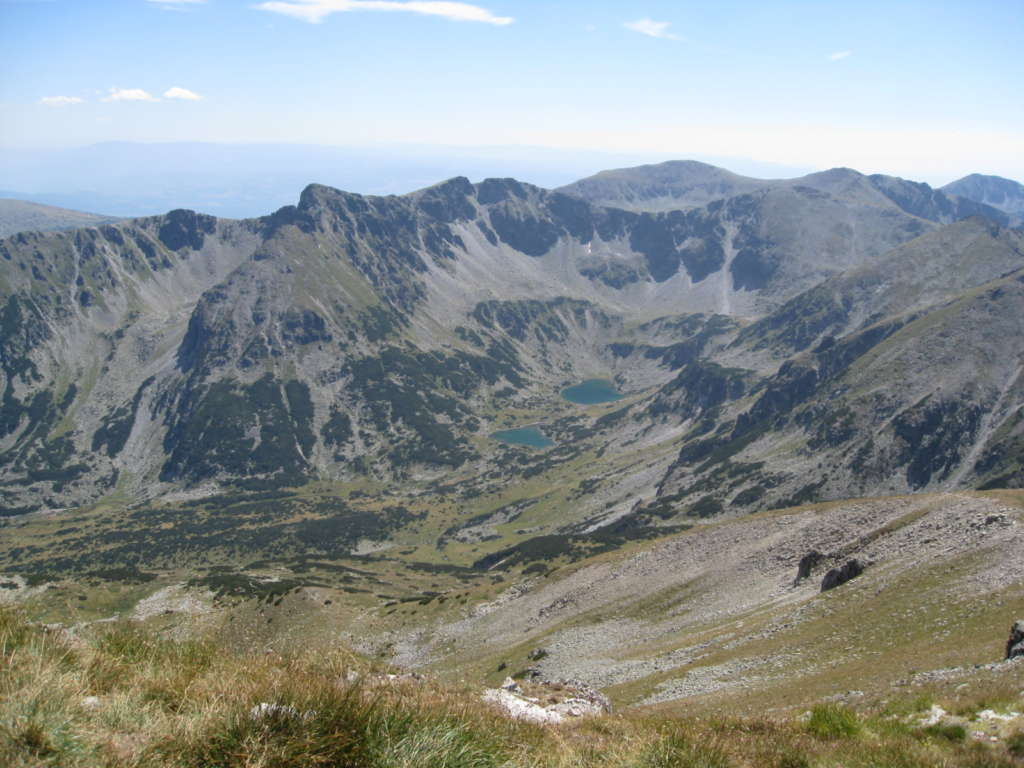 A view to the higher areas of Rila mountain, Bulgaria
