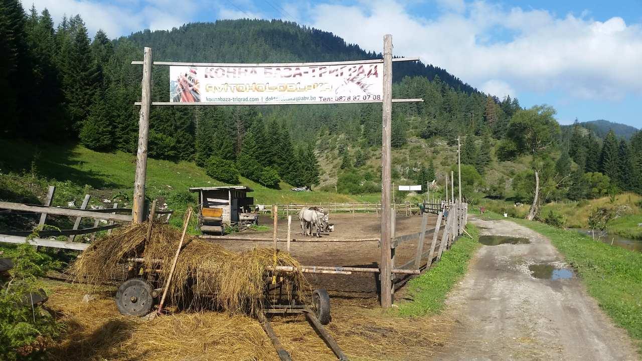 Avitohol-Oblaka horse base near Trigrad, Rhodope mountain, Bulgaria
