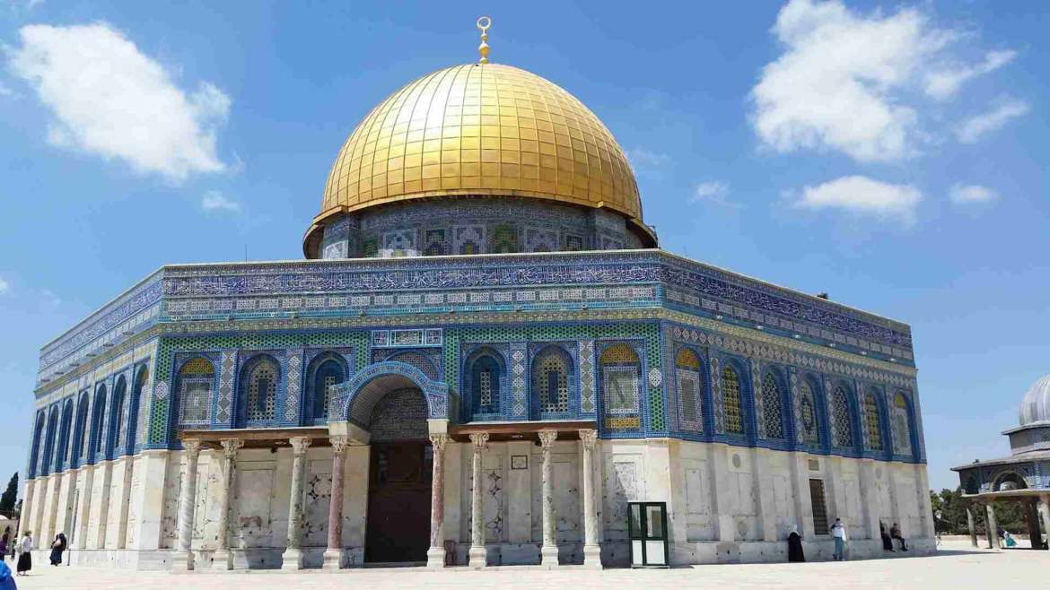 Israel itinerary- Jerusalem- the Dome of Rock on Mt Moriah