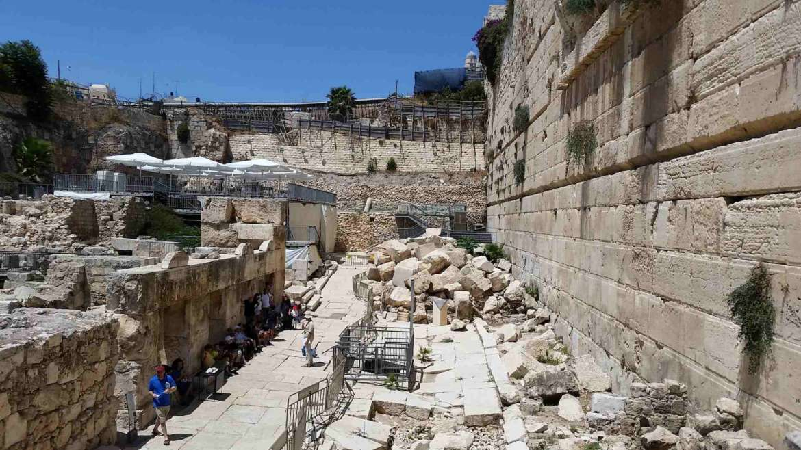 Visit Jerusalem, see the ancient Herodian street in Davidson center