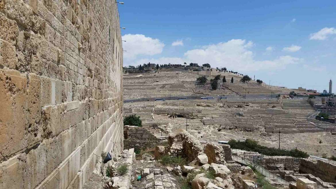 Visit Jerusalem, see Mount of Olives from the Southern Wall of the Temple Mount