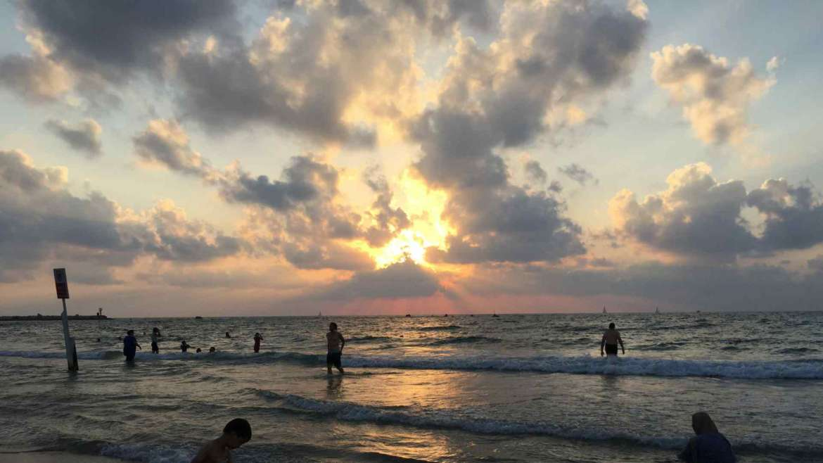Israel itinerary- Tel Aviv- sunset on the beach