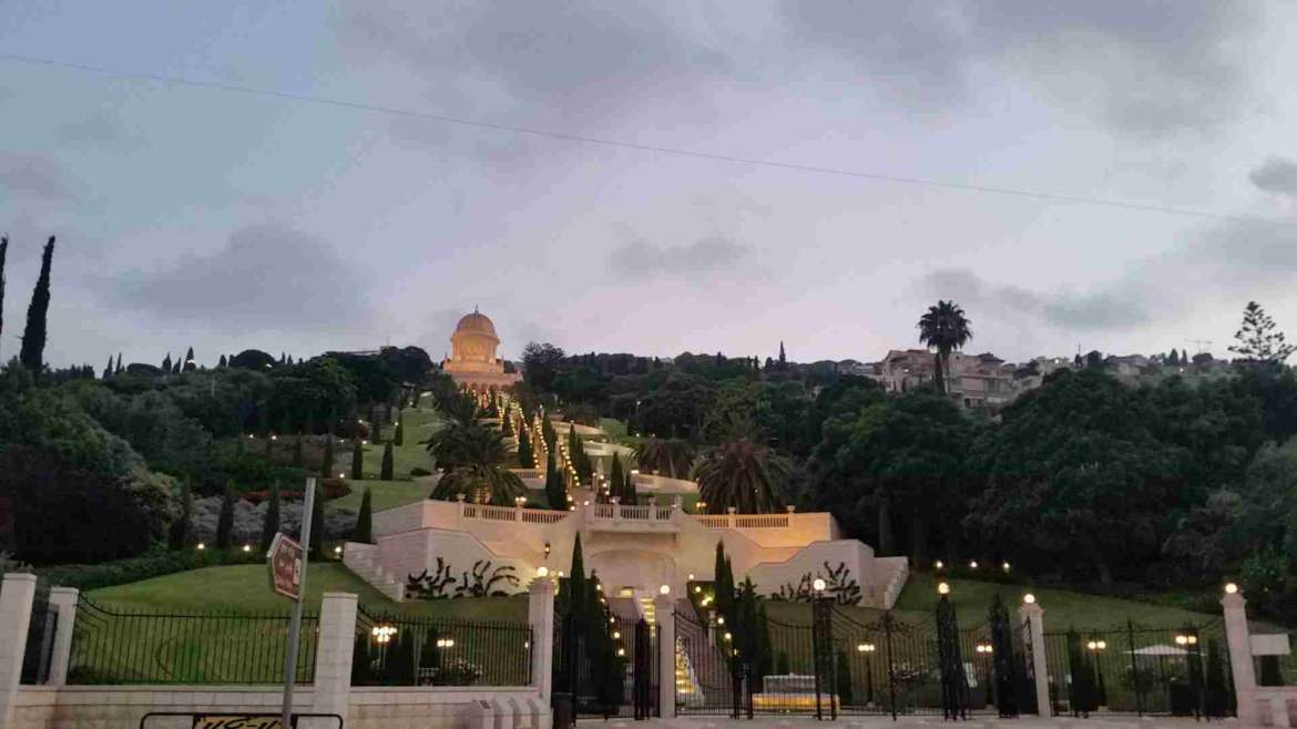 Israel itinerary- Haifa- evening in Bahaii Gardens