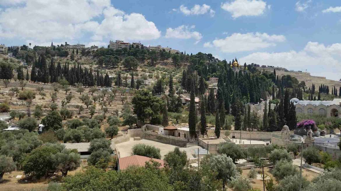 Israel itinerary, Jerusalem- Mount of Olives and the Garden of Gethsemane