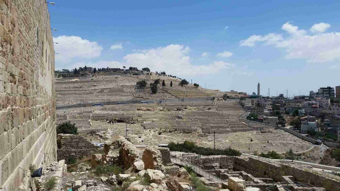 Israel itinerary, Jerusalem, Davidson center, view to the Mount of Olives