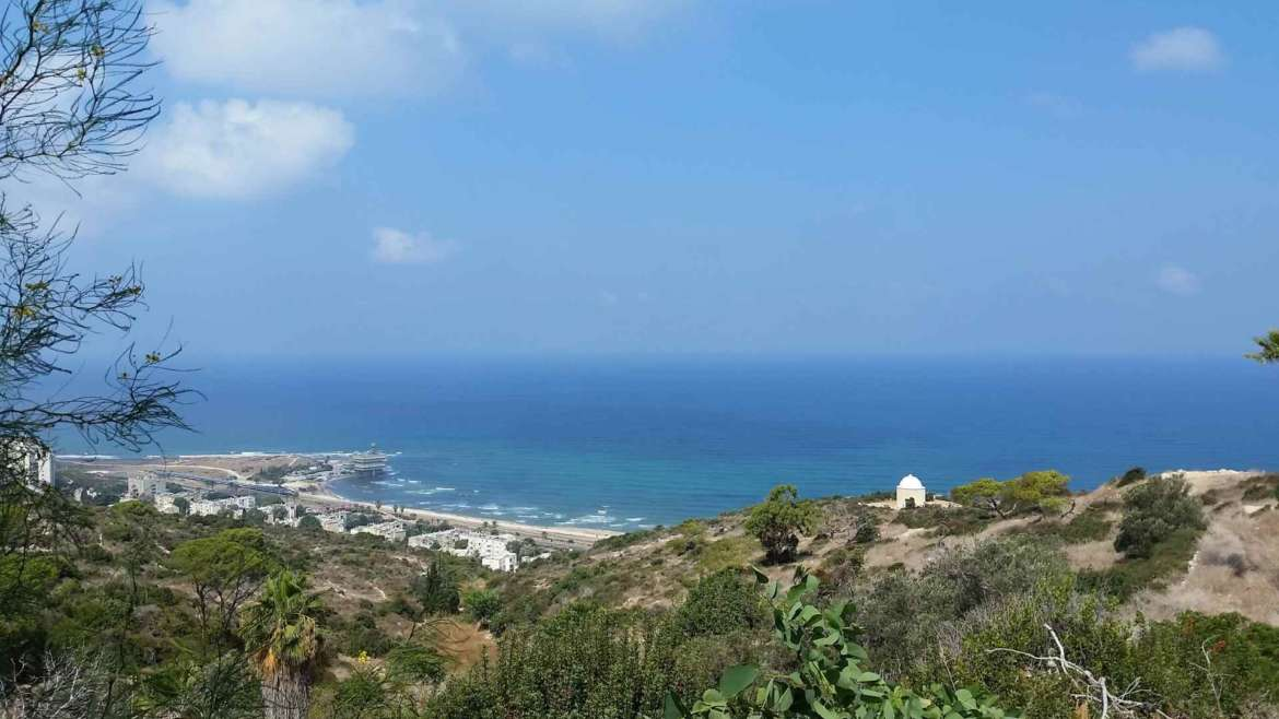 Israel itinerary- Mount Carmel- a view to Stella Maris Chapel and the Mediterranean Sea