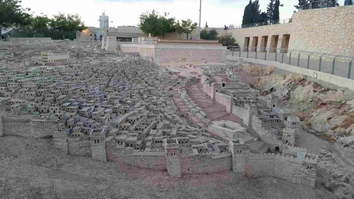 Visit Jerusalem, see the model of the ancient city from the Herodian time, 66 AD
