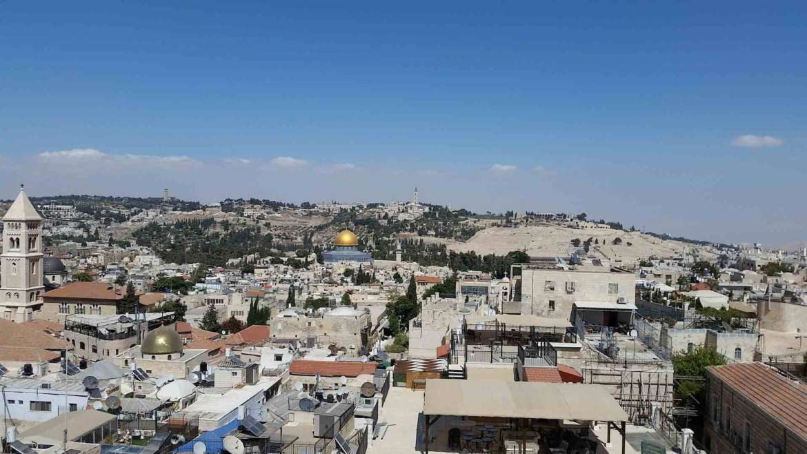 Israel itinerary- Jerusalem- view to the Old City and Temple Mount