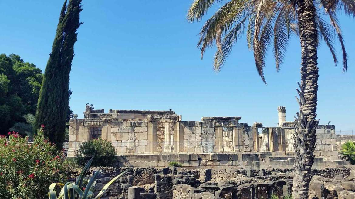 The ruins of Capernaum, at the Sea of Galilee