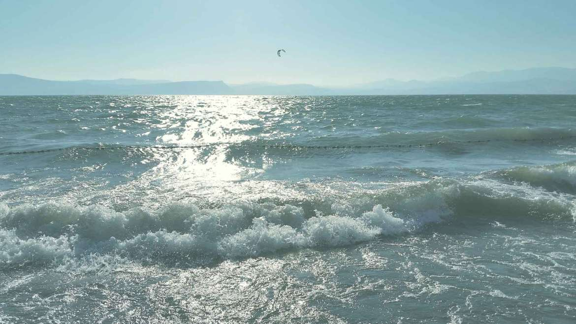 Windy afternoon on the Sea of Galilee at Kursi