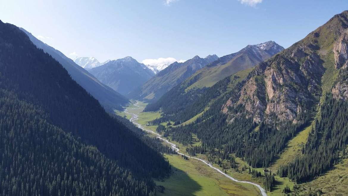 A trip to Kyrgyzstan- Arashan valley from above