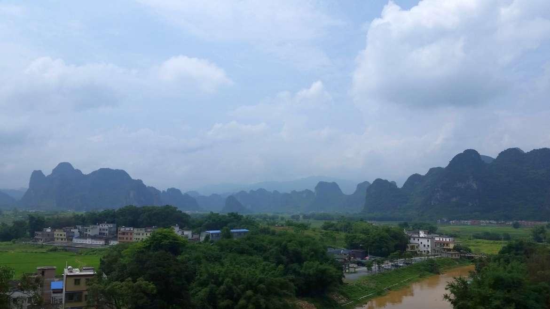 Yingxi Limestone hills view
