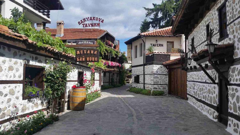 In the Old town of Bansko, Bulgaria