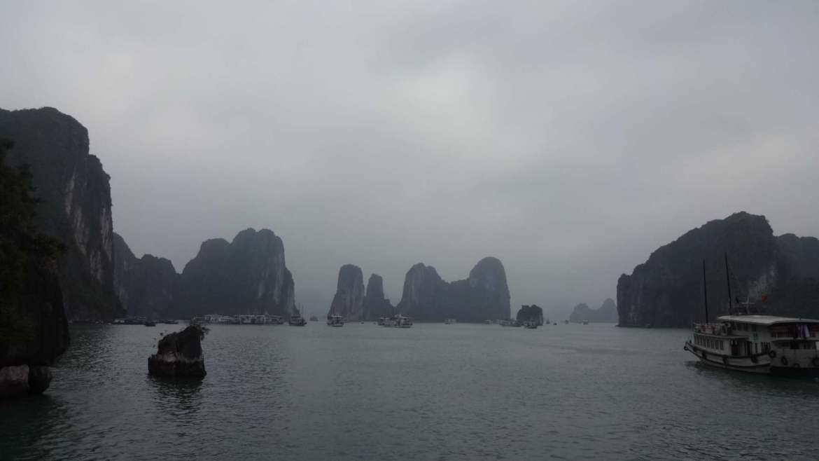 Karst hills area in the sea