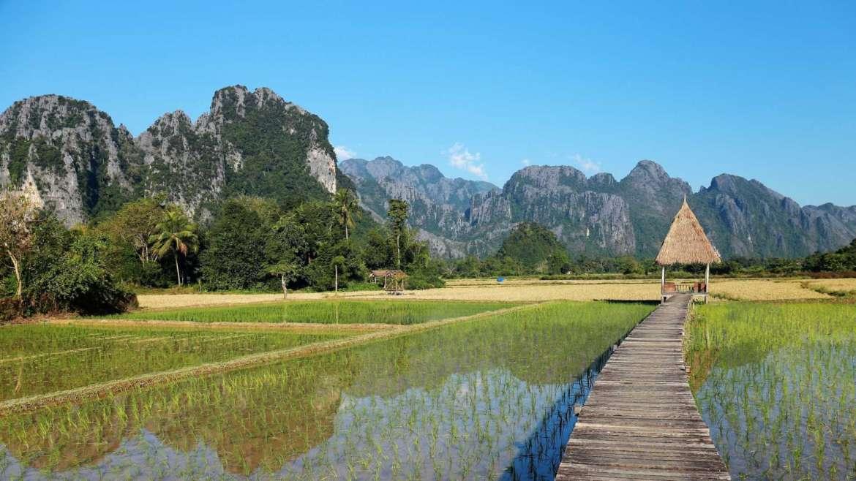 Karst hills area- Vang Vieng