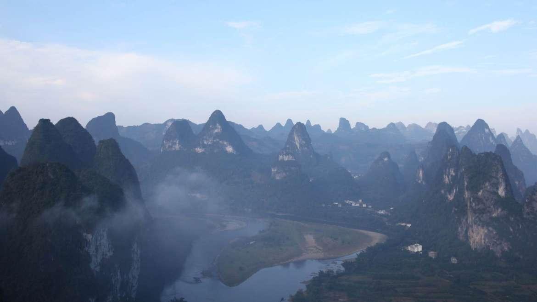 Karst hills landscape
