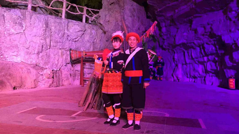 Yao minority in Guangdong, China Yao couple in Youling Cave