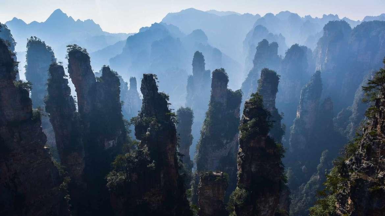 Karst hills area- Zhangjiajie