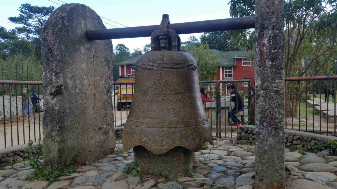 A bell gift at St.Mary Church, Sagada, Philippines