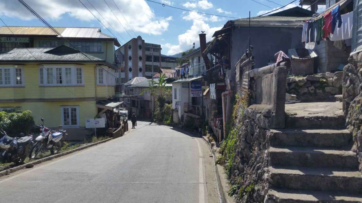 Sagada, Philippines, one of the main roads of the town