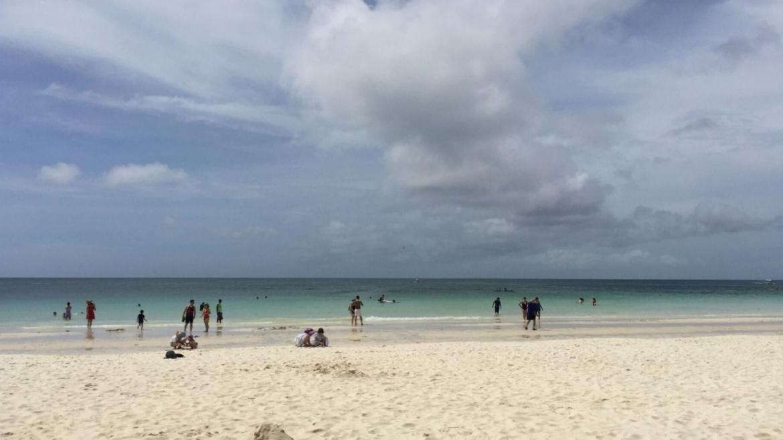 The beach of Boracay Island