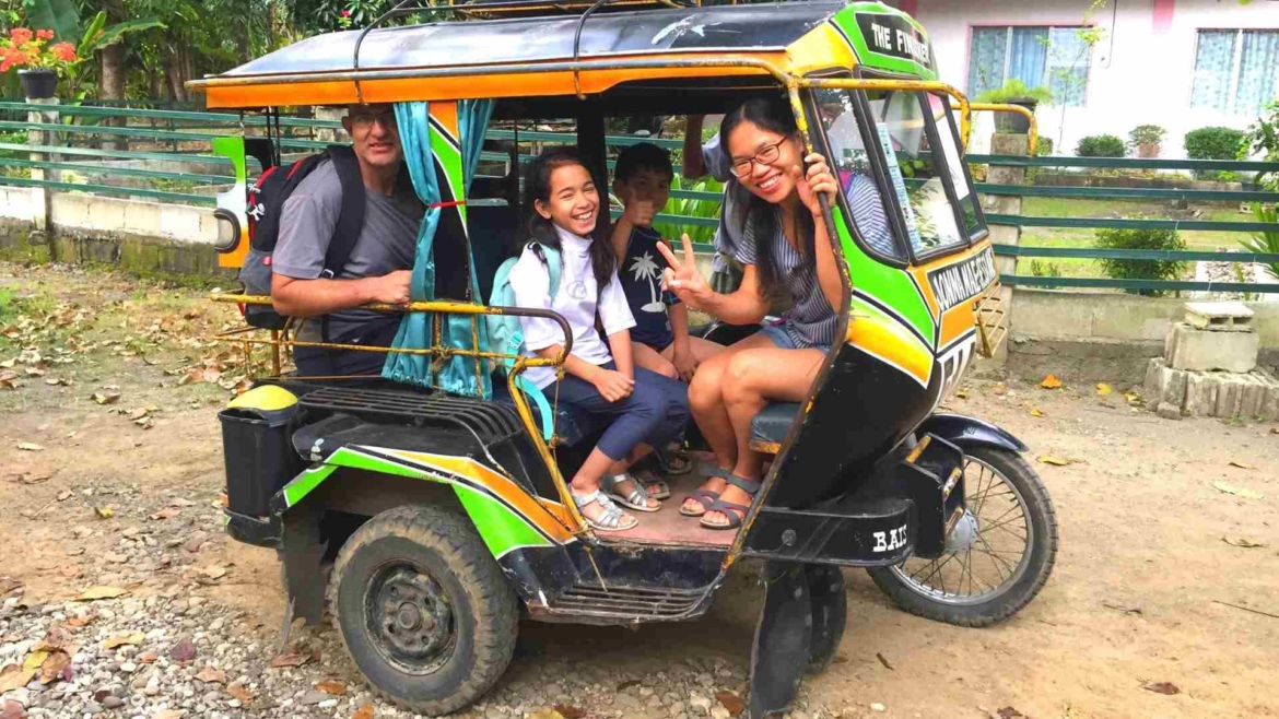 A normal part of our itinerary- traveling by tricycle