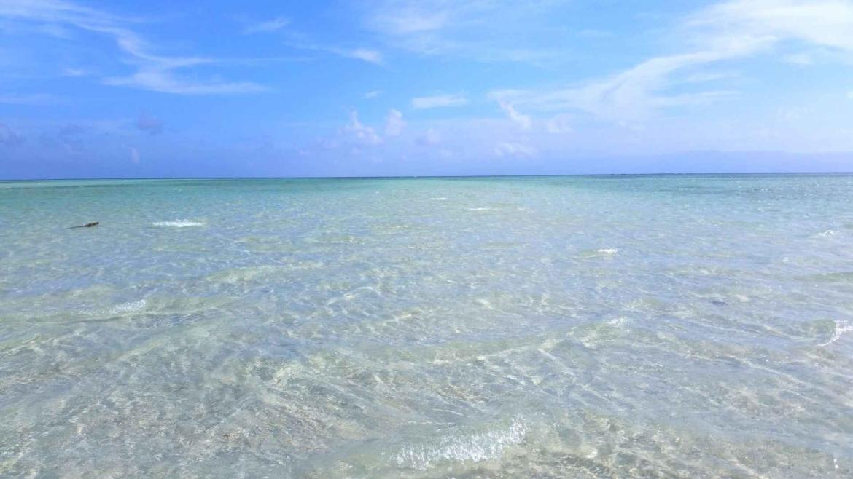 Manjuyod Sandbar- shallow sea and blue sky