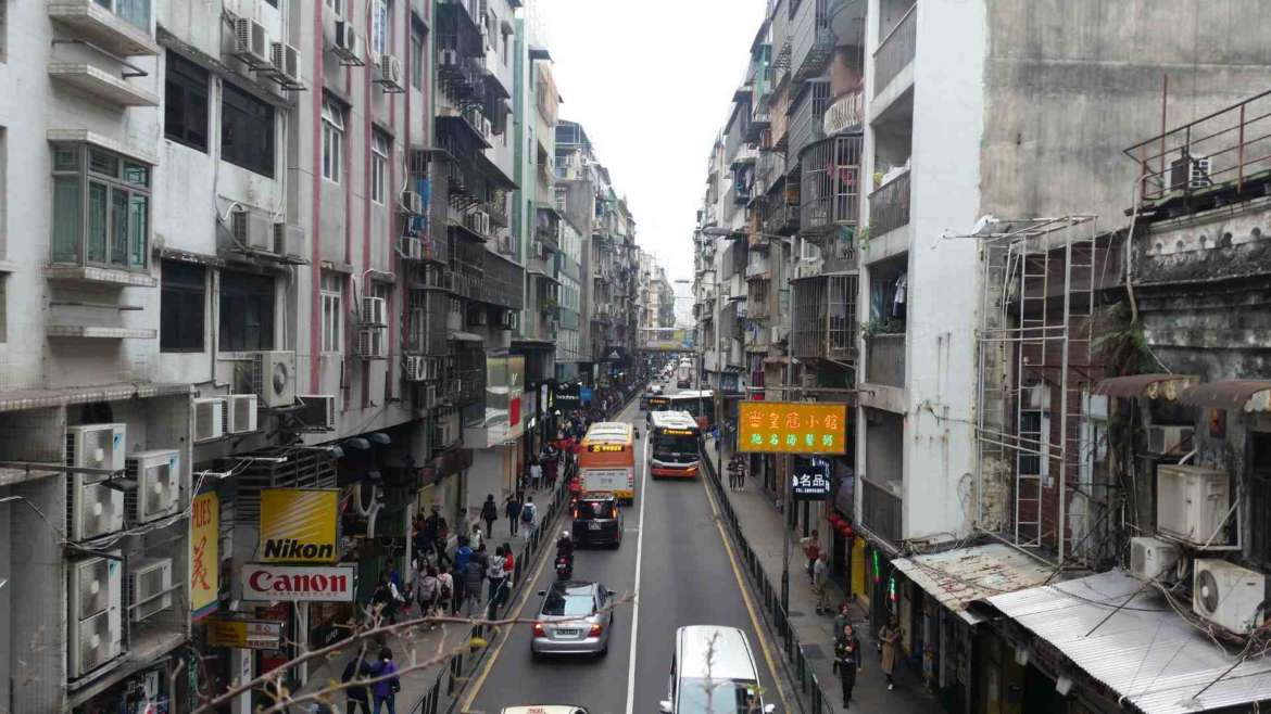 The residential area of Macau