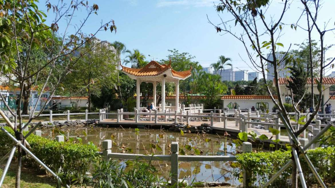 City of Flowers Garden in Taipa, Macau- a Chinese culture influence