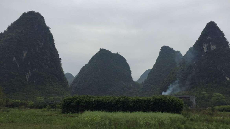 Guilin Karst Hills area- landscape around Yulong River, Yangshuo
