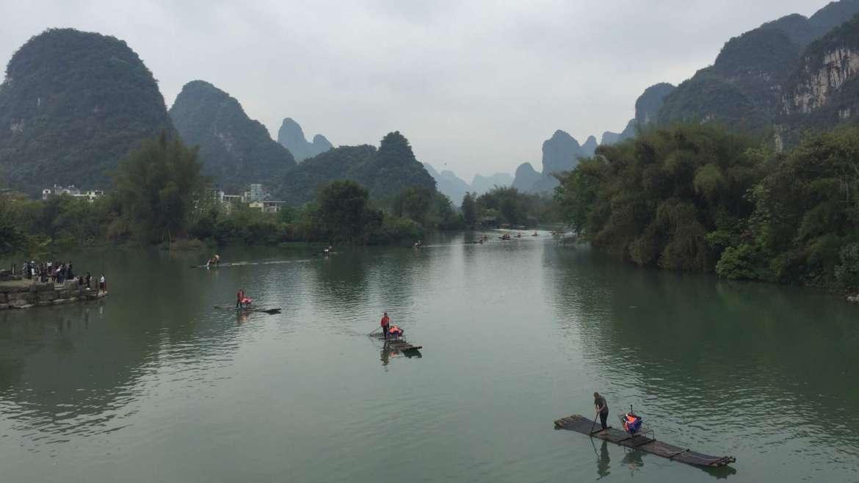 Guilin Karst Hills- Yulong River landscape