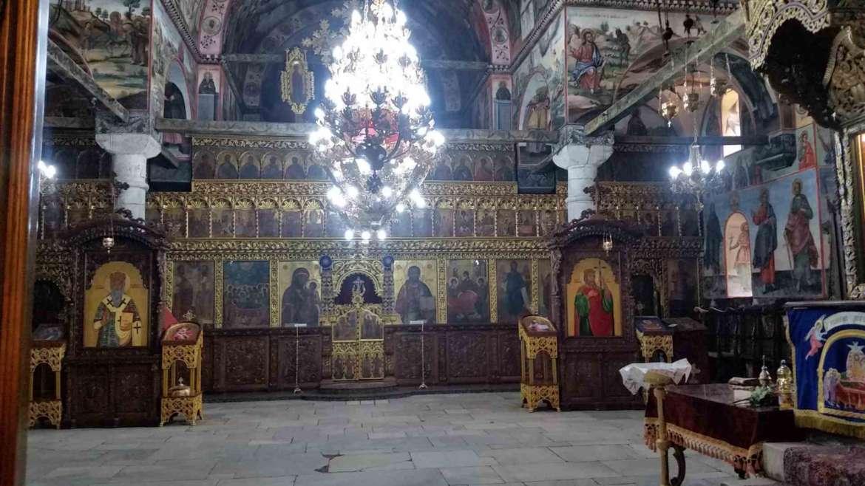 The interior of the Main Church of Bachkovo Monastery