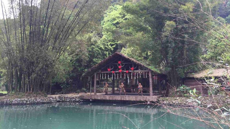 Guilin Karst Hills- Folk performance in Shiwai Taoyuan Scenic Area