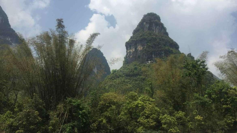 Somewhere in the Guilin Karst Hills landscape