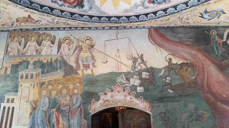 The Eternal Judgement painting in St.Nicola Church, Bachkovo Monastery