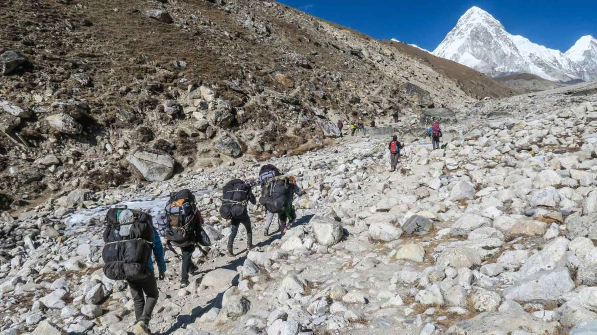 Trekking in the Himalayas, on one of the fourteen 8000ers trek