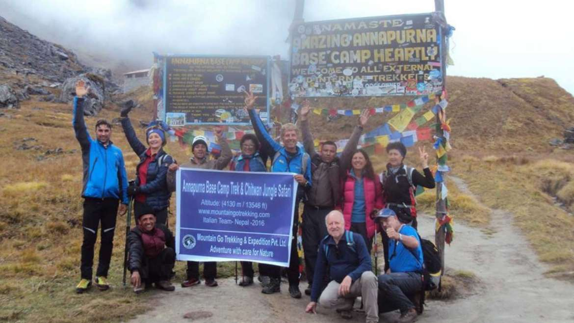 On a trek around Annapurna, one of the fourteen 8000ers