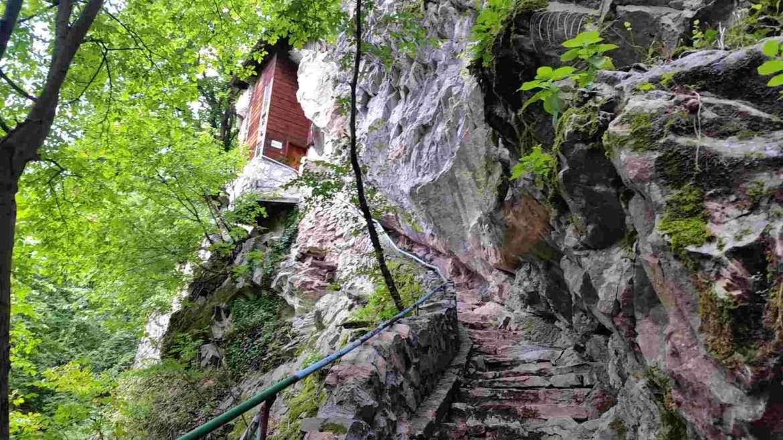 The stairs to the hermit's cavern, Bachkovo Monastery