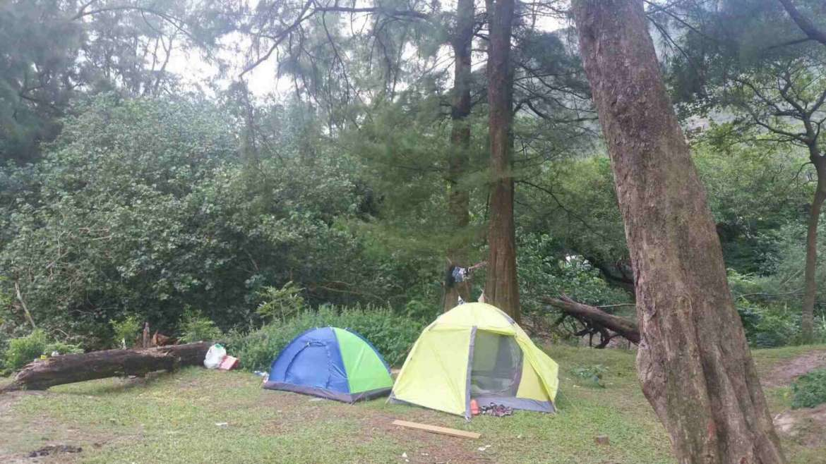 Accommodation in China- camping in the nature